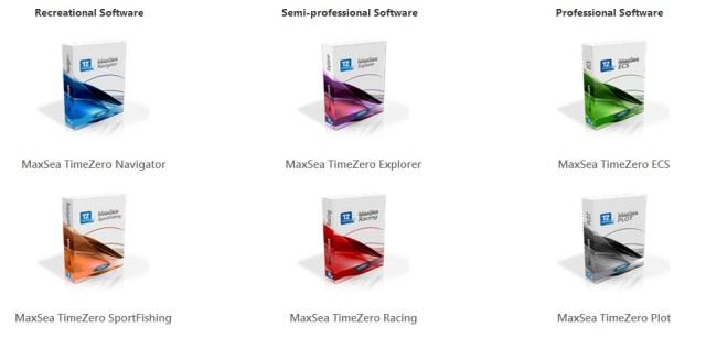 All MaxSea TimeZero software versions