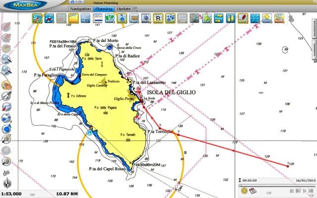 Isola del Giglio, lieu de l'accident du Costa Concordia