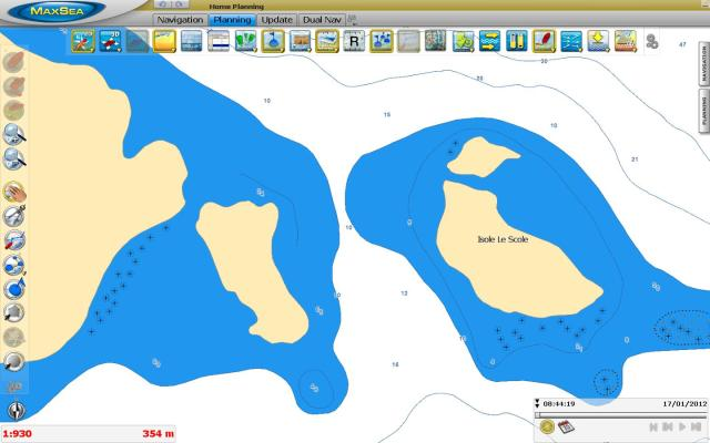 Isole Le Scole C-MAP MapMedia mm3d
