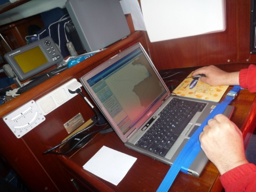 David Shaw using MaxSea TimeZero marine navigation software