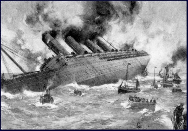 Lusitania sinking anniversary - shipwreck