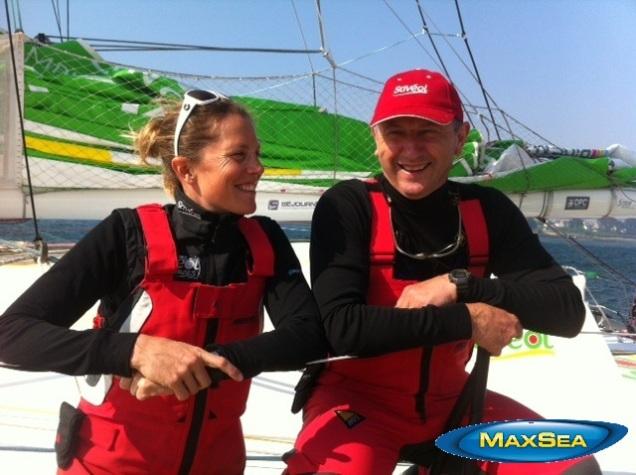 Sam Davies & Crew - Transmanche Race 2012