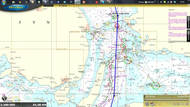 Route in the Baltic Sea MOD70 European Tour 2012 by Gilles Chiorri