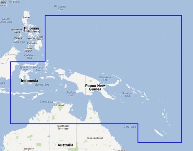 New chart - MWVJAUM002MAP3.1 Papua - New Guinea and Solomon Islands