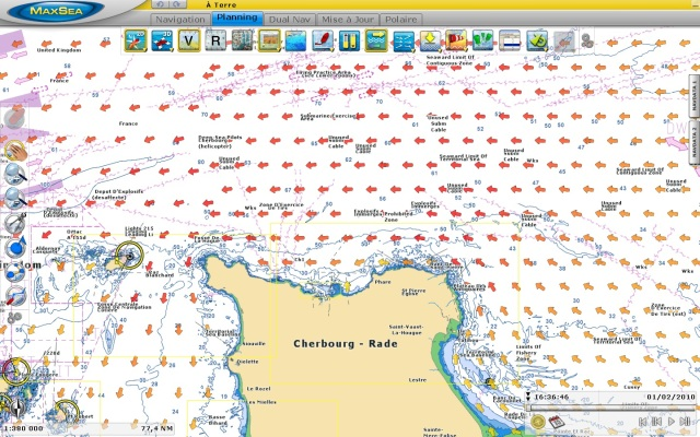 Tidal Currents around the Cherbourg sea area - France