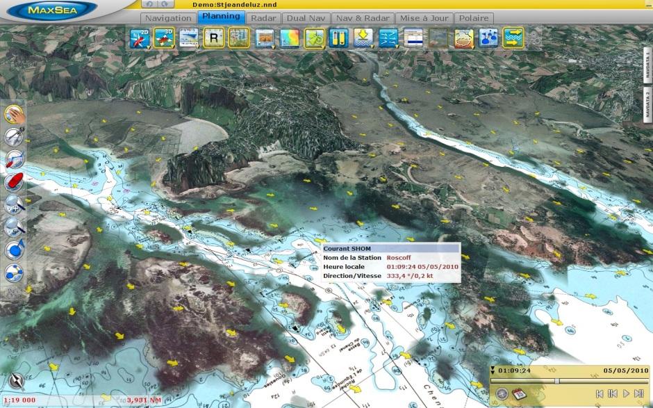Saint-Jean de Luz 3D High Resolution Tidal Currents - France
