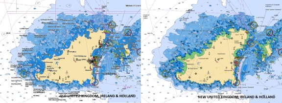 UK, Ireland & Holland Navionics Vector Charts Update