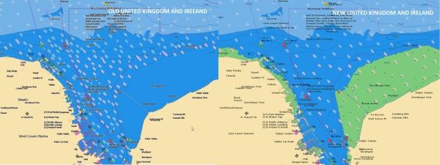 United Kingdom and Ireland Navionics Electronic chart