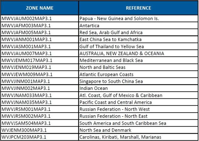 World Pack MapMedia Jeppesen Vector charts update