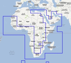 Africa and Middle East Navionics Electronic chart