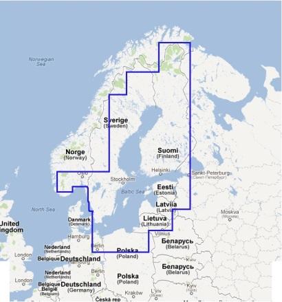 NEW Scandinavia East Navionics vector chart