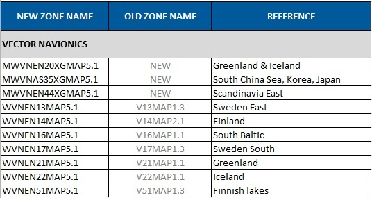 Scandinavia, Iceland, Greenland and East Asia Navionics Chart Update - October 2012