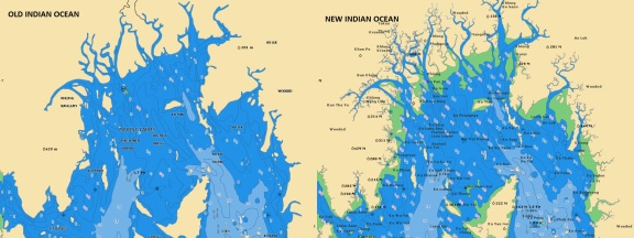 Old/New Indian Ocean - Navionics vector chart