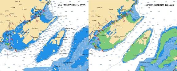 Old/New Philippines to Java - Navionics vector chart
