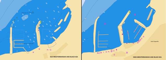 OLD-NEW Mediterranean and Black Sea chart
