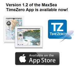 Version 1.2 of the MaxSea TimeZero App is available now
