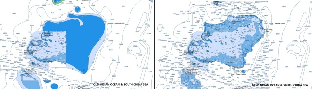 Indian Ocean and South China Sea Navionics chart