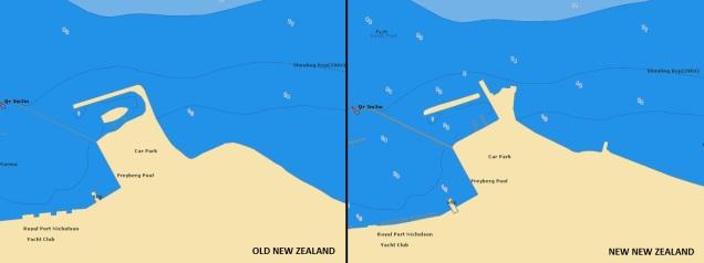 New Zealand Navionics chart