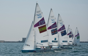 Disabled sailing racing boat