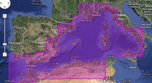 Division in marine chart zones