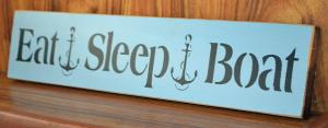 eat sleep boat
