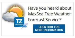 MaxSea TimeZero Free Weather Forecast Service