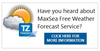 MaxSea TimeZero Free Weather Forecast Service