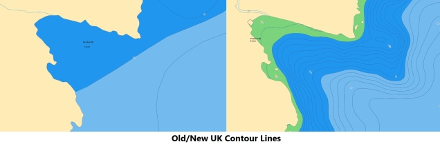 Old vc. New UK Contour Lines