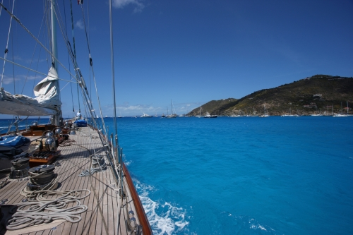 On the way out of the Gustavia harbour