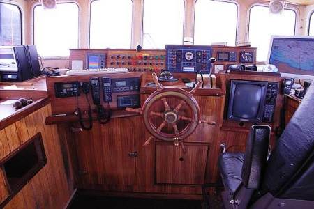 Marine electronics set up
