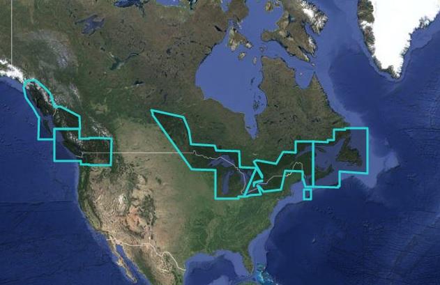 Canada Nautical Chart - MWRMNA80MAP