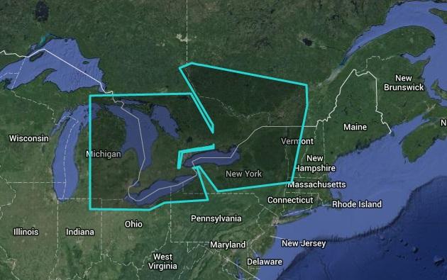 Great Lakes - East Nautical Chart - WRMNA901MAP