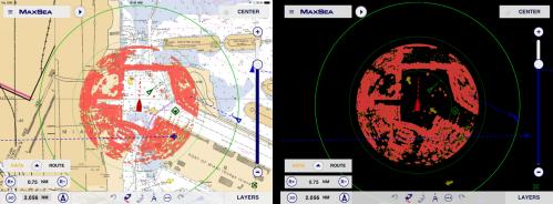 MaxSea TimeZero App: Radar compatibility