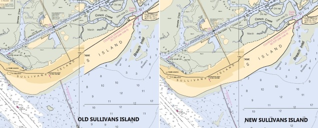 NOAA Chart Update Minor Sullivan's Island