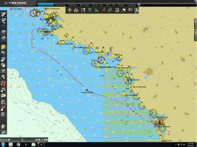 Trace du Kata Lind sur la navigation entre Brest et La Rochelle